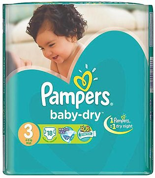Pampers - Pampers Taped 4 To 9kg - 18Pcs