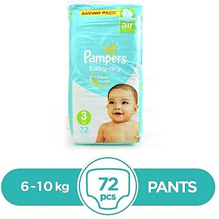 Pampers - Pampers Taped (Saving pack) 6 To 10kg - 72Pcs