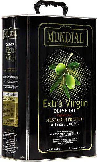Mundial - Mundial Extra Virgin Olive Oil Tin - 3Ltr