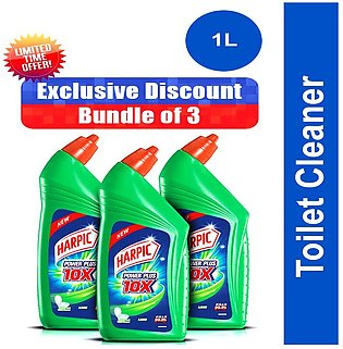 Harpic - Pack Of 3 Harpic Toilet Cleaner 1L Lime