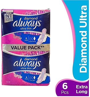 Always - Always Diamond Ultra - Extra Long Pads (Pack of 12)