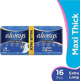 Always - Always Maxi Thick Extra Long Pads (Pack of 16)