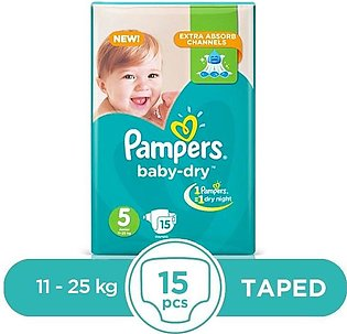 Pampers - Pampers Baby Dry Junior 11 To 25kg - 15Pcs