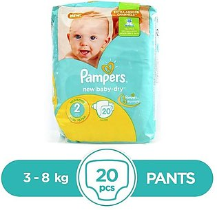 Pampers - Pampers Taped 3 To 8kg - 20Pcs