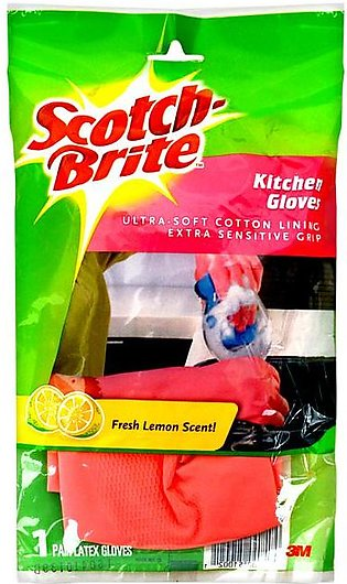 Scotch Brite - Scotch Brite Kitchen Gloves Medium Pink (1 Pair)