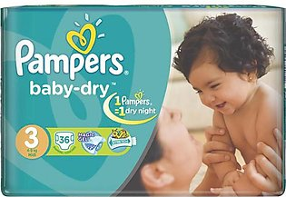 Pampers - Pampers Taped 4 To 9kg - 36Pcs