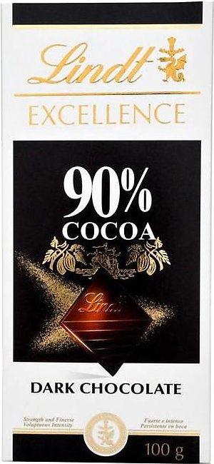 Lindt - Lindt Excellence Cocoa Dark Chocolate - 100gm