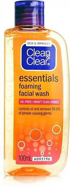 Clean & Clear - Clean and Clear Foaming Facial Wash Essentials - 100ml