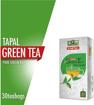 Tapal - Tapal Green Tea Pure Green Tea Bags (Pack of 30)