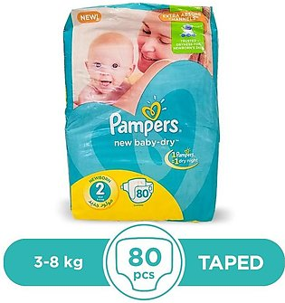 Pampers - Pampers Taped 3 To 8kg - 80Pcs