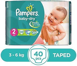 Pampers - Pampers Taped 3 To 6kg - 40Pcs