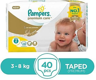 Pampers - Pampers Premium Taped 3 To 8kg - 40Pcs