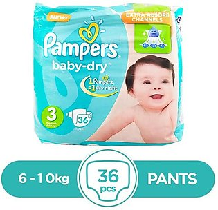 Pampers - Pampers Taped 6 To 10kg - 36Pcs