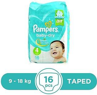 Pampers - Pampers Taped 9 To 18kg - 16Pcs