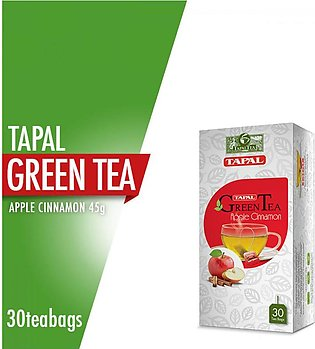 Tapal - Tapal Green Tea Apple Cinnamon Tea Bags (Pack Of 30)