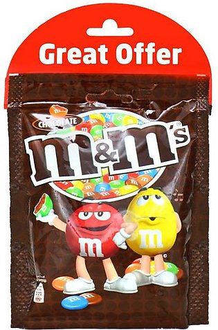 m&m - MandM's Chocolate Beans Chocolate Pouch (Pack of 2) - 180gm