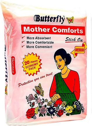 Butterfly - Butterfly Mother Comforts Stick on Pads Medium (Pack of 20)