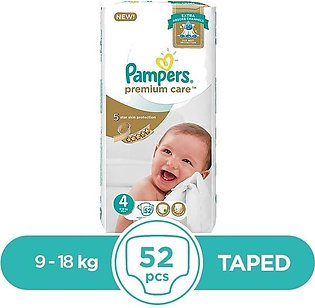 Pampers - Pampers Premium Taped 9 To 18kg - 52Pcs