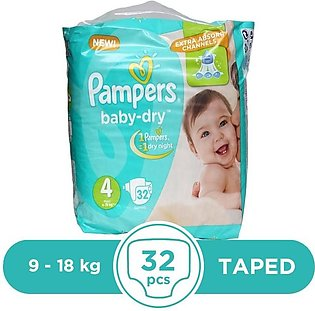 Pampers - Pampers Taped 9 To 18kg - 32Pcs