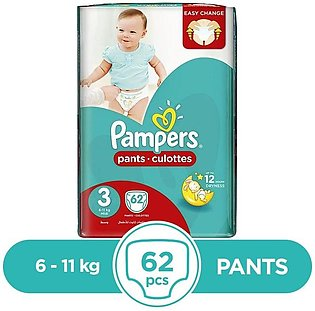 Pampers - Pampers Pants 6 To 11kg - 62Pcs