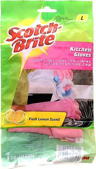 Scotch Brite - Scotch Brite Large Pink Light Duty Kitchen Gloves
