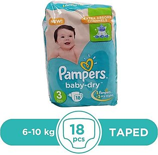 Pampers - Pampers Taped 6 To 10kg - 18Pcs