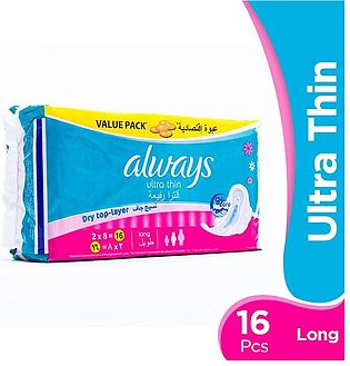 Always - Always Ultra Thin Long Pads (Pack of 16)