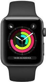 Apple   Watch Series 3 - 42mm Space Gray Aluminum Case with Black Sport Band