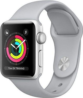 Apple | Watch Series 3 - 42mm Silver Aluminum Case with Fog Sport Band