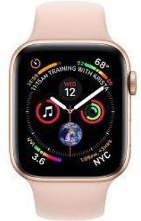 Apple | Watch Series 4 - 44mm Gold Aluminium Case with Pink Sand Sport Band