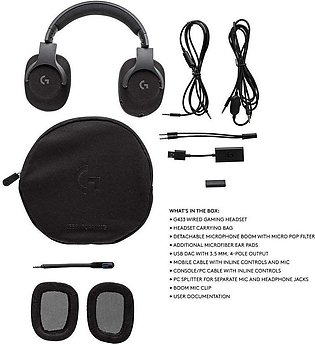 Logitech | G433 - Wired Gaming Headset