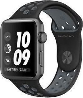 Apple | Watch Series 3 Nike+ - 42mm Space Gray Aluminum Case with Black/Cool Gray Nike Sport Band