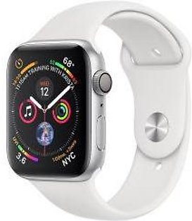 Apple | Watch Series 4 - 44mm Silver Aluminium Case with White Sport Band