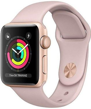 Apple | Watch Series 3 - 42mm Gold Aluminum Case with Pink Sand Sport Band