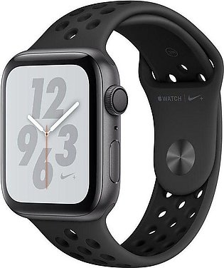 Apple | Watch Series 4 Nike+ - 44mm Space Gray Aluminum Case with Anthracite/...
