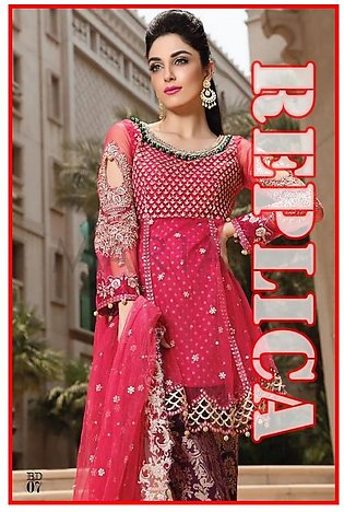 Maria b Embroidered Chiffon Suit MBD 07 RP in Pakistan