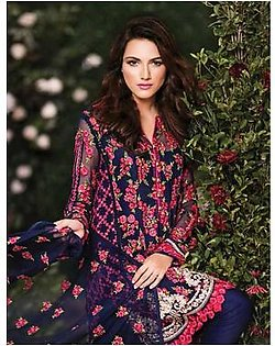 Mina Hasan by Shariq Embroidered Suit With Chiffon Duppata Mina D4 in Pakistan
