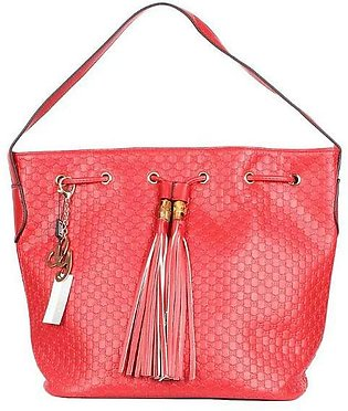 GUCCI GG Embosssed Bucket Bag - Red Hand Bag in Pakistan