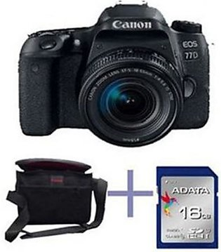CANON EOS 77D DSLR Camera With 18-55mm IS STM Lens - 16Gb Card Kit Bag - Blac...