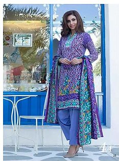 Monsoon By Al-Zohaib Printed Lawn Suit MSP18 4A in Pakistan