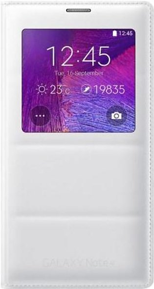 Mobile Accessories Samsung Note4 S View Cover (White) in Pakistan