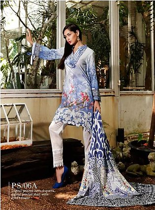 Al Zohaib Printed Lawn Suit SSPR18 6A in Pakistan