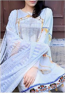 FAUSTINA BY SALITEX Embroidered Chikan Kari Suit FAUS18 28B in Pakistan