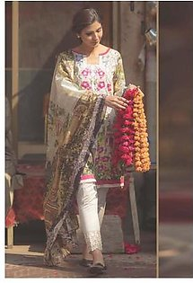 FIRDOUS TEXTILES Luxury Embroidered Lawn Suit FDLW18 06 in Pakistan