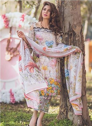 RANG RASIYA Premium Embroidered Lawn Suit RRS18 1A in Pakistan
