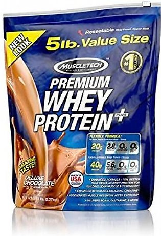 Muscletech 5lb 100% Premium Whey Protein Plus - Chocolate Supplement in Pakistan