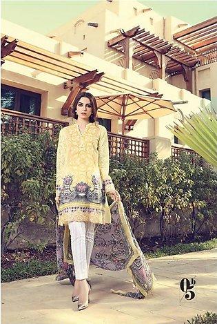 Maria B Embroidered Lawn Suit MB17 5B in Pakistan