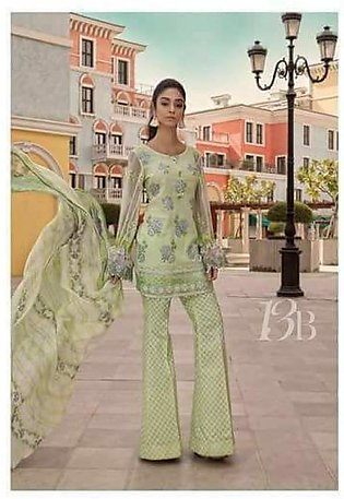 MARIA.B Luxury Embroidered Lawn Suit MBL18 13B in Pakistan