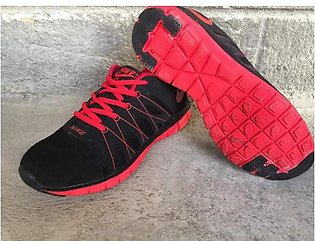 Nike Black Red Sports Shoes 1525 in Pakistan