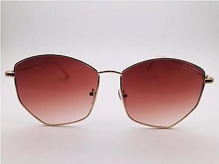 Gucci Brown Glass And Gold Frame Sunglasses 54321 in Pakistan